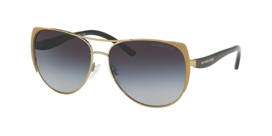 ef375f7d0c713 NEW Michael Kors Sadie MK1005 115611 Gold   Grey Gradient Sunglasses ...